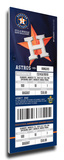 Houston Astros 2013 Opening Day Mega Ticket Stretched Canvas Print