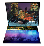 NYC, Central Park Snow and Plaza Hotel & Niagara Falls with Blue Light, NY Set Posters by Rudi Von Briel