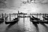 A Slightly Blurred Gondola Passing by in Front of Saint Mark's Square, Venice, Italy Photographic Print by Francesco Carovillano