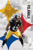 Pittsburgh Steelers - T Polamalu 14 Print