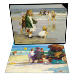 Play in the Surf & A Family Outing Set Posters by Edward Henry Potthast