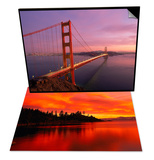 Golden Gate Bridge at Sunset, CA & Sunset, Sierra Mountains, Lake Tahoe, CA Set Art by Kyle Krause