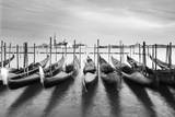 Venetian Seascape with Gondolas and the Church of Saint George Maggiore in Italy Photographic Print by Francesco Carovillano