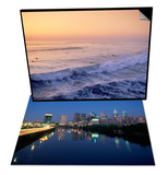 Surfers, Mission Beach, San Diego, California & Skyline and Schuykill River, Philadelphia, PA Set Posters by James Lemass