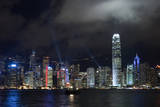 Symphony of Light Laser Show at Victoria Harbor in Hong Kong Photographic Print by Victor Korchenko