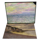 On the High Seas, Sunset at Pourville & Pointe de Lailly, Maree Basse, 1882 Set Posters by Claude Monet