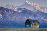 Historic Barn at Sunset, Flathead Indian Reservation, Montana Photographic Print by Steven Gnam