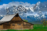 Grand Tetons, Wyoming: an Old Barn Located in the Historic District of Jackson Hole Photographic Print by Brad Beck