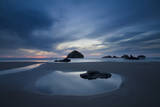 Face Rock and Reflections on the Beach in Bandon, Oregon Photographic Print by Patricia Davidson