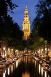 Zuiderkerk Church at Night in Amsterdam, Netherlands Photographic Print by Carlo Acenas