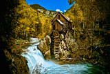 Crystal Mill Is an Old Ghost Town High Up in the Hills of the Maroon Bells, Colorado Photographic Print by Brad Beck