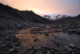 Sunset at Ishinca High Camp, Urus Peaks in the Distance, Cordillera Blanca, Peru Photographic Print by Erik Johnson