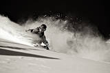 A Male Skier Travels Down the Slopes at Snowbird, Utah Photographic Print by Adam Barker