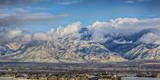 View of the Wasatch Mountains from the West Side of the Salt Lake City Valley in Utah Photographic Print by Mitch Johanson