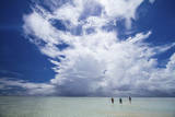 Anglers Walk to the Outer Reef of St. Francois Atoll, Seychelles Photographic Print by Matt Jones