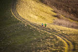 A Male and Female Run in the Foothills Above Salt Lake City, Utah Photographic Print by Louis Arevalo