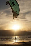 Kitesurfers at Utah Lake, Near Salt Lake City Utah Photographic Print by Carlo Acenas