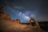 The Milky Way Shines over Delicate Arch at Arches National Park, Utah Photographic Print by Ben Coffman