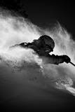 A Male Skier Is Enclosed in Powder at Snowbird, Utah Photographic Print by Adam Barker