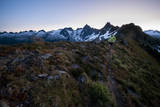 Trail Running in the North Cascades, Washington Photographic Print by Steven Gnam