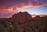 View of Smith Rock During Sunset at Smith Rock State Park, Oregon Photographic Print by Patricia Davidson