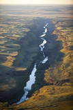 Aerial Photo of the Palouse River Which Has Cut a Canyon Through the Scablands of East Washington Photographic Print by Ben Herndon