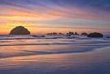Face Rock in Bandon, Oregon During Sunset Photographic Print by Patricia Davidson