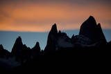 Fitz Roy Range at Sunset, Patagonia, Argentina Photographic Print by Bennett Barthelemy