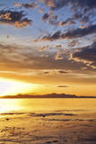 Sunset at the Great Salt Lake in Utah on a Warm Early Spring Day Photographic Print by Clint Losee