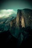 Yosemite National Park, California: Sunset Falls and Lights Up the Wall on Half Dome Photographic Print by Brad Beck