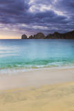 View of the Famous Cabo San Lucas Rocks as the Sun Rises over the Ocean Photographic Print by Matt Dames