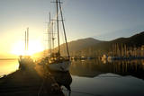 Boats Docked in the Harbor at Fethiye, Sunrise, in Turkey Photographic Print by Bennett Barthelemy