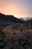 Sunset at Ishinca High Camp, Urus Peaks in the Distance, Cordillera Blanca, Peru Photographic Print by Erik Johnson