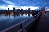 The Portland Oregon Skyline Seen from Burnside Bridge in Early Evening Photographic Print by Bennett Barthelemy