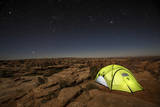 Tent Sits Next to Massive Canyon on Public Land Near Canyonlands National Park, Utah Photographic Print by Matt Jones