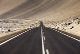 The Panamerican Highway Slices Through the Northern Atacama Desert in Northern Chile Photographic Print by Sergio Ballivian