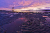 A Colorful Sunset after a Rain Storm in Coos Bay, Oregon During Low Tide Photographic Print by Patricia Davidson