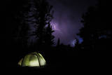 Tent in Thunder Storm Near Mt Evans, Colorado Photographic Print by Daniel Gambino