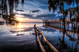 Jacksonville, Fl: Sunset Lights Up the Pier and Canoe Ramp Photographic Print by Brad Beck