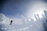 A Man Backcountry Skiing on Mt. Tumalo, Oregon Cascades Photographic Print by Bennett Barthelemy