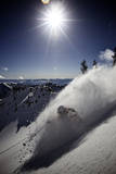 Skier Parker Cook at Snowbird, Utah Photographic Print by Adam Barker