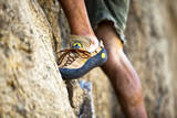 A Man's Climbing Shoe in Low Depth of Field at Granite Point in Eastern Washington Photographic Print by Ben Herndon