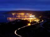 Avila Beach, California Seen at Night Photographic Print by Daniel Kuras