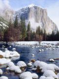USA, California, Yosemite National Park. Winter Photographic Print by  Jaynes Gallery
