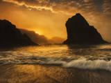 Marine Fog Layers Moving in During Sunset on the Oregon Coast Photographic Print by Arnab Banerjee