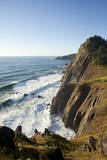 Looking Out on the Pacific Ocean Off Highway 101 Near Manzanita, Oregon Photographic Print by Justin Bailie