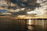 The Ocean Beach Fishing Pier in San Diego, California Photographic Print by Brett Holman