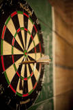 Dart Board in a Bar Photographic Print by Justin Bailie