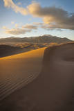 The Last Sunlight of the Day Lights the Sand of Great Sand Dunes National Park, Colorado Photographic Print by Jason J. Hatfield