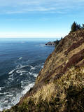 Looking North from Neahkahnie Mountain Up the Oregon Coastline Toward Cannon Beach Oregon Photographic Print by Maureen Eversgerd
